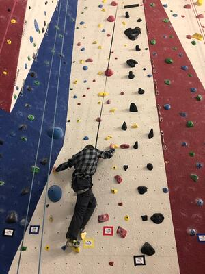 indoor rock climbing white mountains