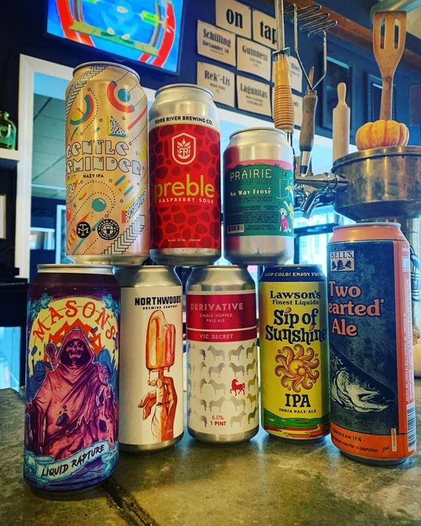 Crumb Bar Beer selection