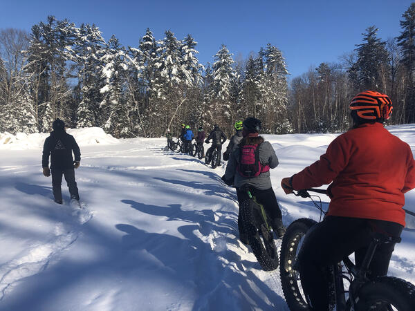 group winter fat biking
