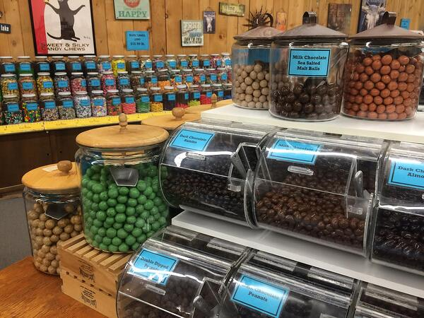 malt balls at chutters candy counter